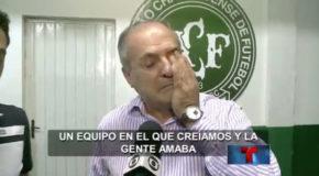 """Brasil llora a su equipo de fútbol """"Chapecoense"""""""